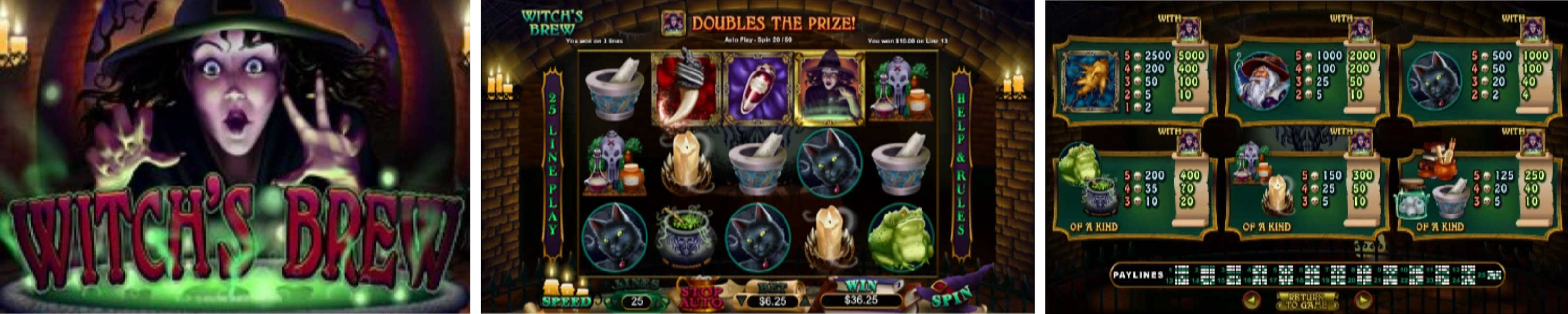 Witch's Brew Video Slots Review