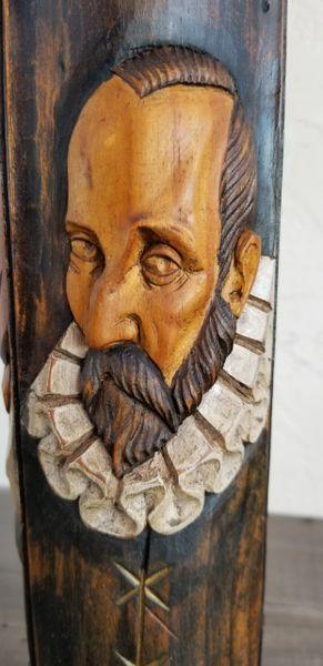 Hand Carved Don Quixote Shakespear Cervantes Table Lamp 1950 S Janakos Amp Company