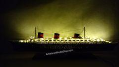 "SS Normandie Ocean Liner Ship Model 40"" With Lights"