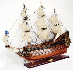 "Soleil Royal Model Tall Ship 37"" - Handcrafted Wooden Model Ship NEW"