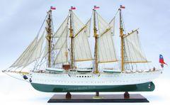 """Esmeralda Chilean Training Tall Ship Wooden Model 37"""""""
