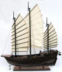 "Chinese Junk Tall Ship 29"" Wooden Model Ship"