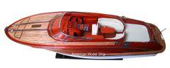 """Rivarama 26"""" Handmade Wooden Speedboat Model"""