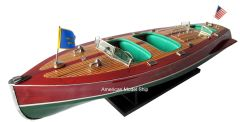 """HK Craft Triple Cockpit Wooden Model Boat 32"""""""