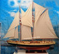 "Bluenose II Sailing Ship Boat Model 70"" XL Size"