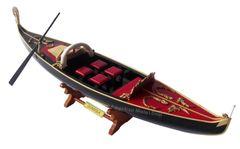"""Venetian Gondola Italian Rowing Boat Assembled 23"""""""