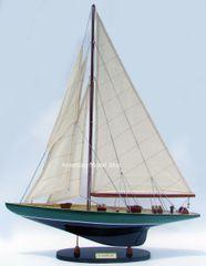 """Shamrock Wooden Model Yacht 24"""""""
