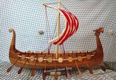 "Drakkar Dragon Viking Sailboat Assembled 24"""