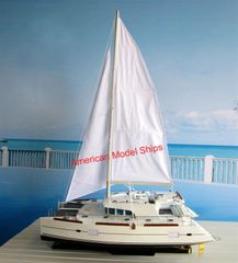 LAGOON CATAMARAN 400 Model Luxurious Designed For Ocean Liner Handmade Wooden