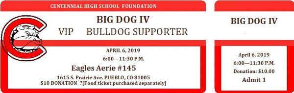 BIG DOG IV Ticket