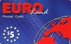 Euro land calling card