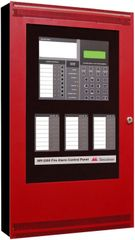 MR-2200R Dual SLC Fire Alarm Control Panel, 120 VAC input, Red, FACP, AorB, RD Dr,120V