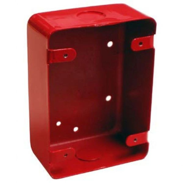 BB-700 Series 700 Interior Surface Mount Backbox, Red Finish