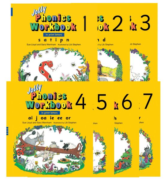 Jolly Phonics Workbooks 1-7 (In Print Letters)