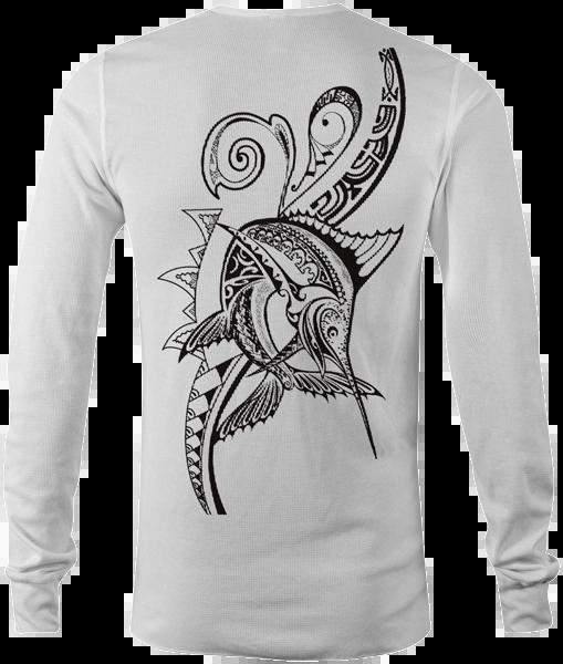 Polynesian Marlin Tattoo - Performance Polyester Long Sleeve Shirt