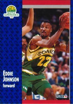 1991 FLEER #190 Eddie Johnson - Standard