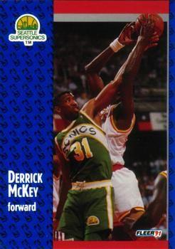 1991 FLEER #193 Derrick McKey - Standard