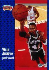 1991 FLEER #182 Willie Anderson - Standard