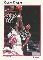 1991 NBAHoops #40 Sean Elliott - Standard