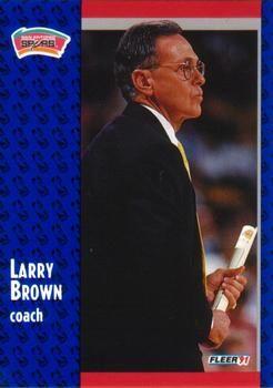 1991 FLEER #183 Larry Brown - Standard
