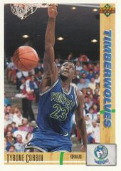 1991 Upper Deck Timberwolves #322 Tyrone Corbin - Standard