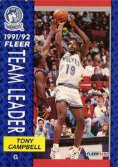 1991 FLEER #387 Tony Campbell - Standard
