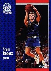 1991 FLEER #318 Scott Brooks - Standard