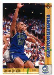 1991 Upper Deck Timberwolves #305 Felton Spencer - Standard