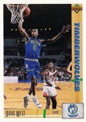 1991 Upper Deck Timberwolves #269 Doug West - Standard