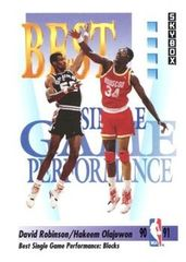 1991 SkyBox #311 David Robinson and Hakeem Olajuwon - Standard