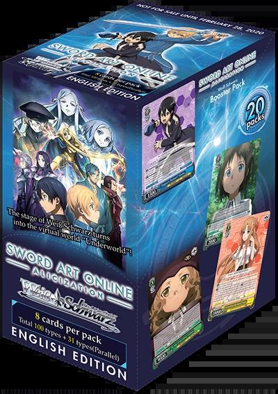 "Weiss Schwarz English Booster Box ""Sword Art Online -Alicization-"" by Bushiroad"