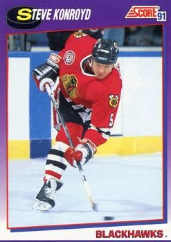1991 Score American #189 Steve Konroyd - Standard