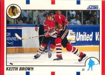 1990 Score American #161 Keith Brown - Standard