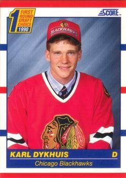 1990 Score American #437 Karl Dykhuis - Standard
