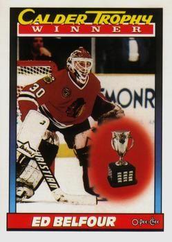 1991 O-Pee-Chee #518 Ed Belfour - Standard