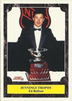 1991 Score American #433 Ed Belfour - Standard