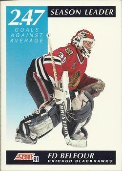 1991 Score American #411 Ed Belfour - Standard