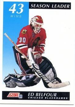 1991 Score American #410 Ed Belfour - Standard