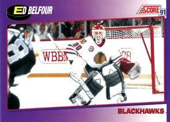 1991 Score American #290 Ed Belfour - Standard