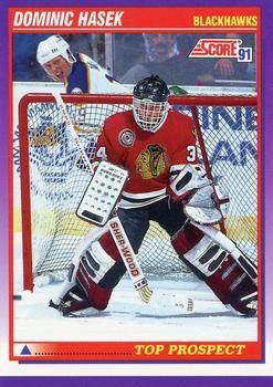 1991 Score American #316 Dominik Hasek - Standard