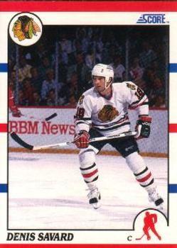 1990 Score American #125 Denis Savard - Standard