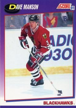 1991 Score American #152 Dave Manson - Standard