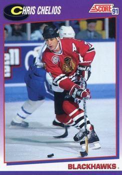 1991 Score American #235 Chris Chelios - Standard