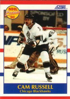 1990 Score American #408 Cam Russell - Standard