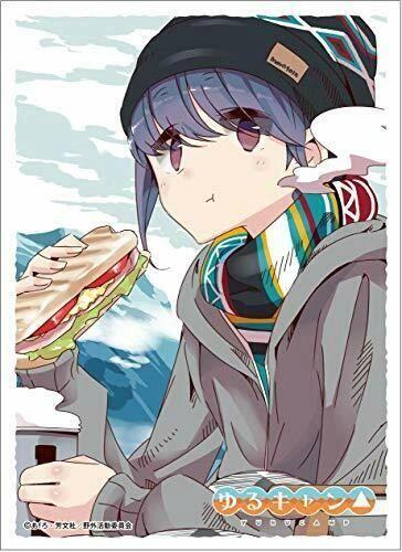 "Character Sleeve ""Yuru Camp: Laid-Back Camp (Shima Rin)(C)"" EN-910 by Ensky"