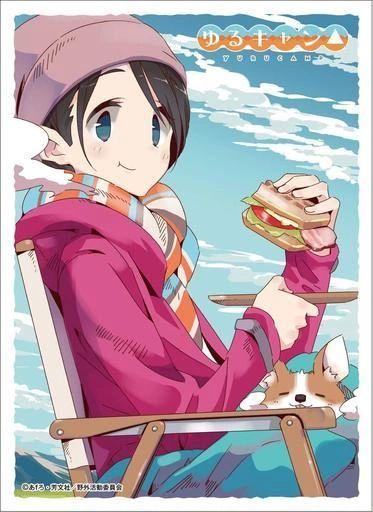 "Character Sleeve ""Yuru Camp: Laid-Back Camp (Saito Ena)(C)"" EN-913 by Ensky"