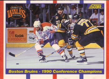 1990 Score American #368 Boston Bruins vs. Washington Capitals - Standard