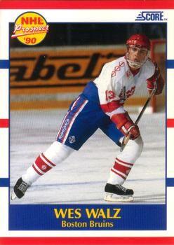 1990 Score American #418 Wes Walz - Standard