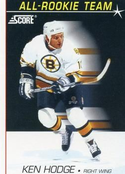 1991 Score American #353 Ken Hodge - Standard