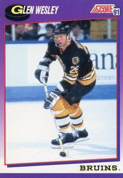 1991 Score American #273 Glen Wesley - Standard